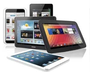 selection of tablets